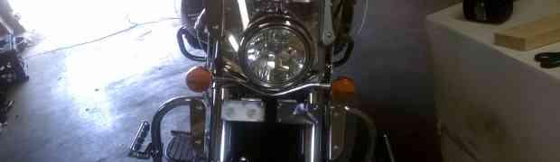 EMT lights on a motorcycle